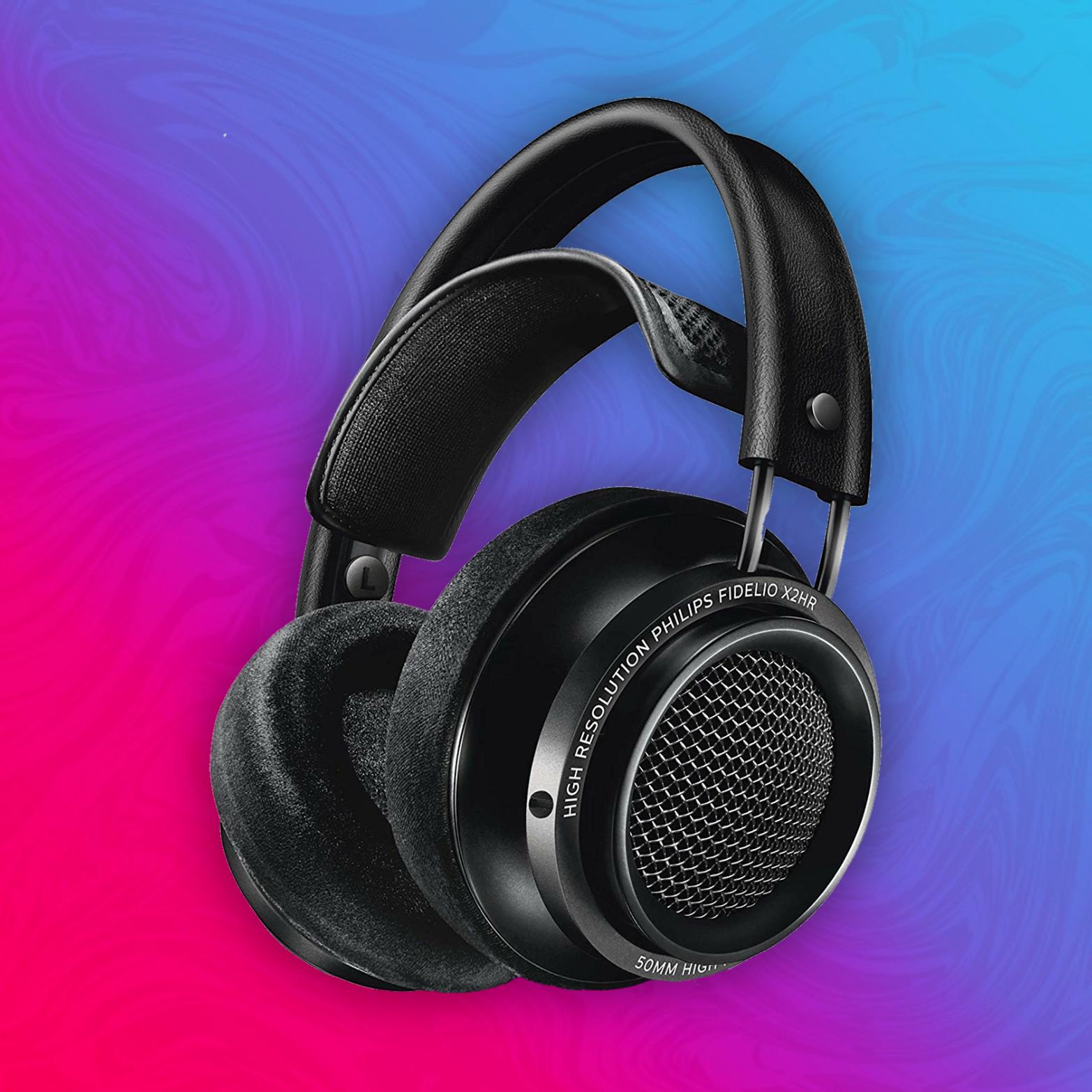 Philips Audio Fidelio X2HR/00 Over-Ear Kopfhörer (High Resolution, 50mm Neodymtreiber, Schaumstoff-Ohrpolster, Kabelclip)