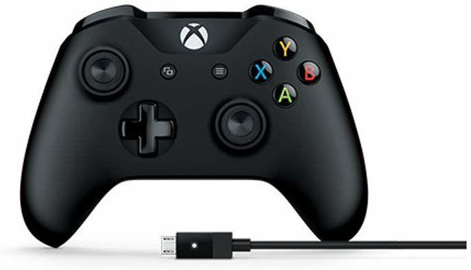 Microsoft Xbox One Wireless Controller + Kabel für Windows (Microsoft Store UK)
