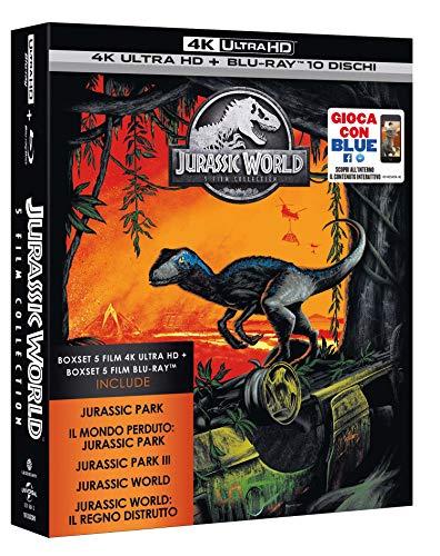 Jurassic Park World 5 Movie Super Collection 4K Ultra HD Blu Ray [Amazon.it]