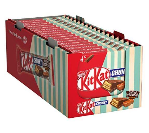 [Amazon Prime] KitKat Nestlé CHUNKY Salted Caramel, 4 x 42 g, 17er Pack=68 Riegel