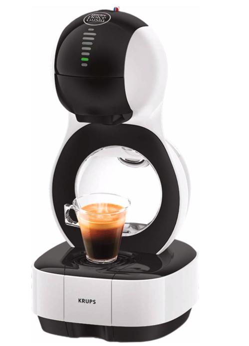 Krups KP1301 Nescafé Dolce Gusto Lumio Kapsel Kaffeemaschine, weiß, 1,0 l