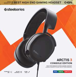 SteelSeries Arctis 3 Console Edition 2019 Gaming-Headset (PC, PlayStation 4, Xbox One & Switch) für 29,99€ (GameStop)