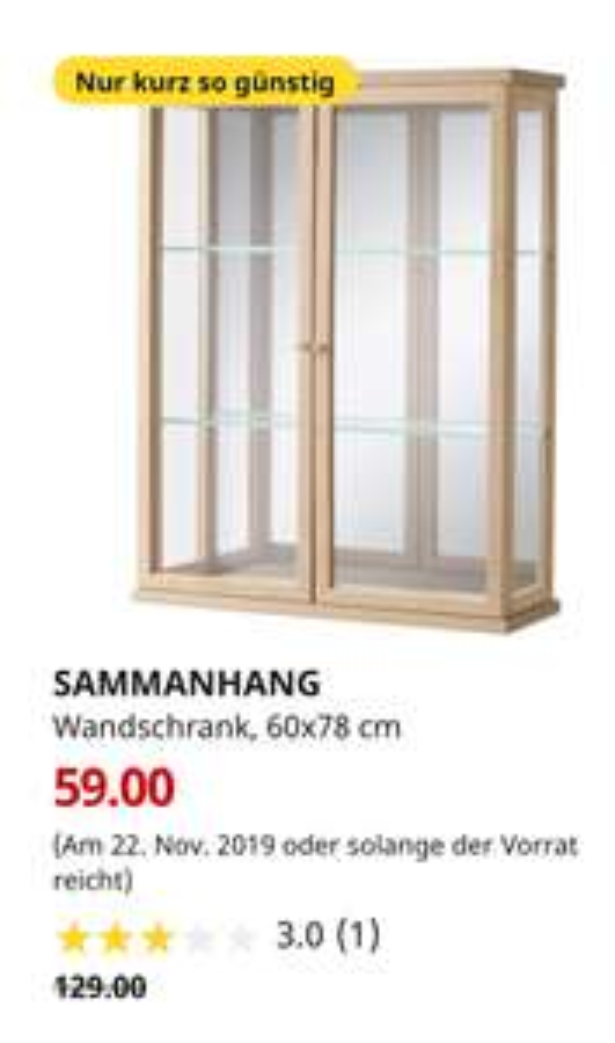 (IKEA Augsburg 22.11.) SAMMANHANG Wandschrank, 60x78 cm