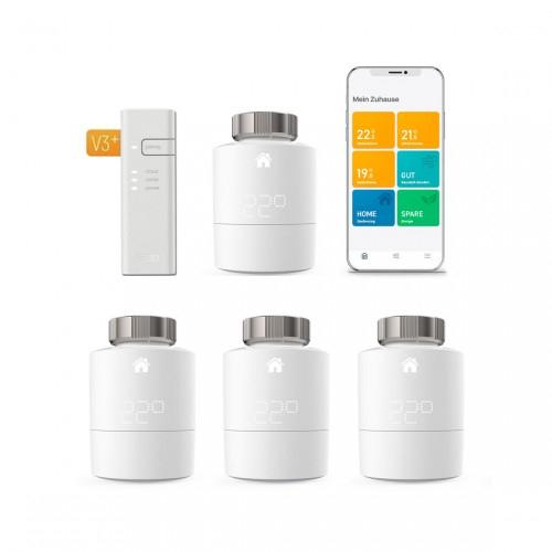 """Tink"" Tado Smartes Heizkörper-Thermostat Starter Kit V3+ mit 4 Thermostaten oder 3."