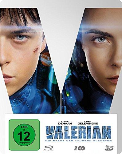 Valerian - Die Stadt der tausend Planeten 3D Steelbook Edition (Blu-ray 3D+Bonus Blu-ray) für 14,97€ & (3D Blu-ray) für 9,97€ (Amazon Prime)
