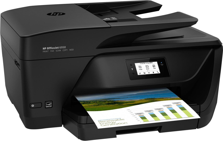 HP OfficeJet 6950 (Drucker/Scanner/Kopierer/Fax, A4, 16/9 S/min, 225 Blatt, Duplex-Druck, ADF, WLAN, USB, Touch-Display, Instant Ink)