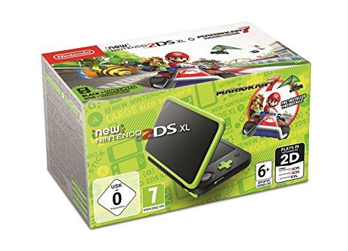 [Amazon] New Nintendo 2DS XL Schwarz + Apfelgrün inkl. Mario Kart 7