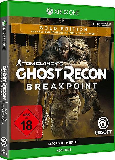 [baur paydirekt] UBISOFT Tom Clancy's Ghost Recon Breakpoint Gold Edition Xbox One & PS4 für 27,99 EUR
