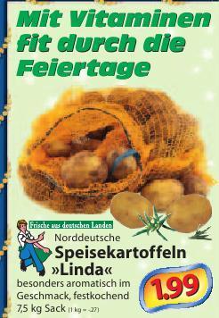 [lokal HH] Linda Kartoffeln, 7,5kg/1,99 Euro bei Edeka Struve