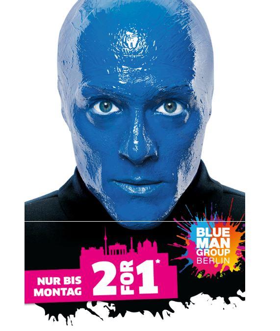 [lokal]: Berlin - BLUE MAN GROUP - 2 Tickets zum Preis von 1 für Vorstellungen bis Dezember