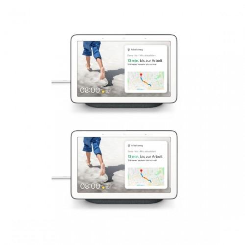 [Tink] 2 x Google Nest Hub Karbon Smart Display mit Sprachsteuerung WLAN Bluetooth für 149,95€