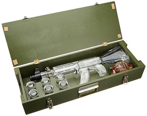 Bartex Red Army Vodka Kalashnikov 1l für 89,99€.