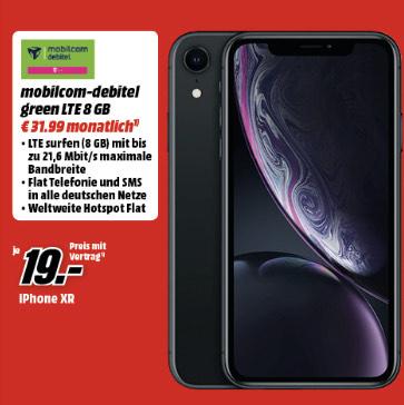 Iphone Xr + 8gb telekom MD [ auch bei Saturn ]