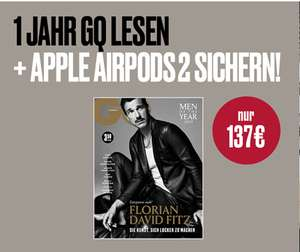 GQ Magazin mit Apple AirPods