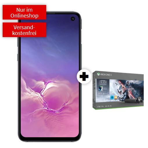 Samsung Galaxy S10e und Xbox One X Star Wars im Debitel Telekom (6GB LTE) mtl. 26,99€ einm. 79€| Magenta S (6GB LTE, StreamOn Music) 827,79€