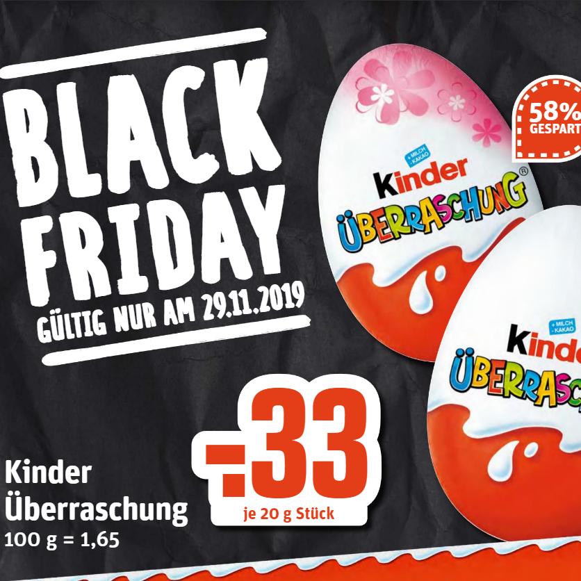 Kinder Überraschung Ü-Ei für 33 Cent am 29.11. [Rewe Region Dortmund & Umgebung]