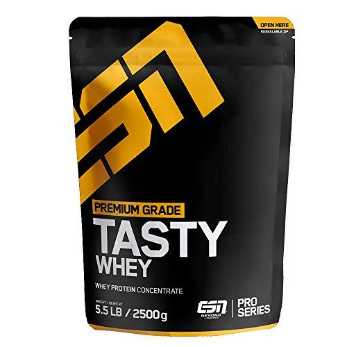 ESN Tasty Whey Chocolate 2,5kg 26,49€ (10,60€/kg) [Amazon prime]