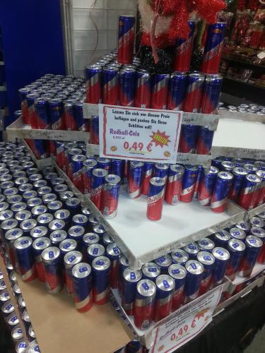 (Lokal) NRW Globus Baumarkt Bergkamen  RedBull Cola 355ml je 49 Cent + Pfand