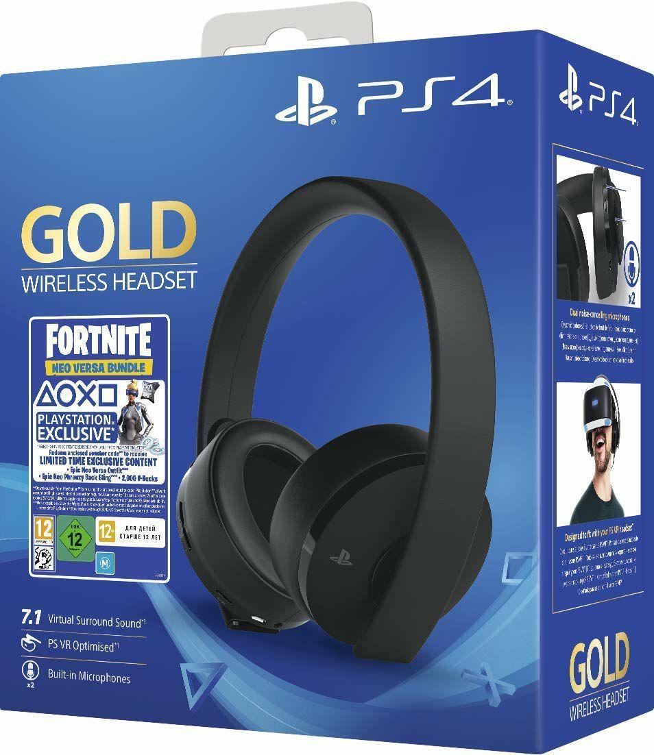 Sony PlayStation Gold Wireless Headset Fortnite Neo Versa Bundle (Amazon UK)