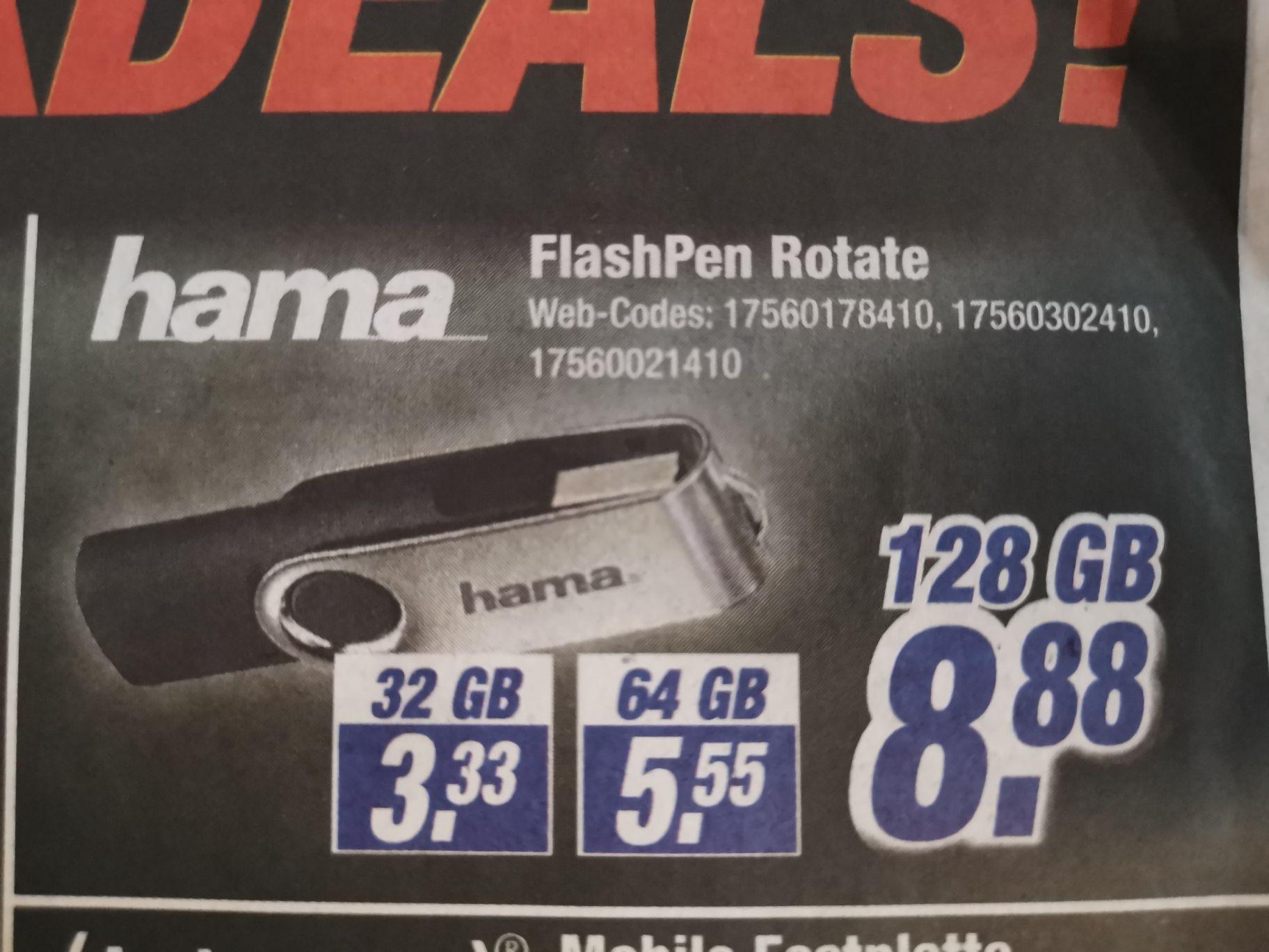 Expert Klein (Lokal) USB 2.0 Hama Flashpen Rotate