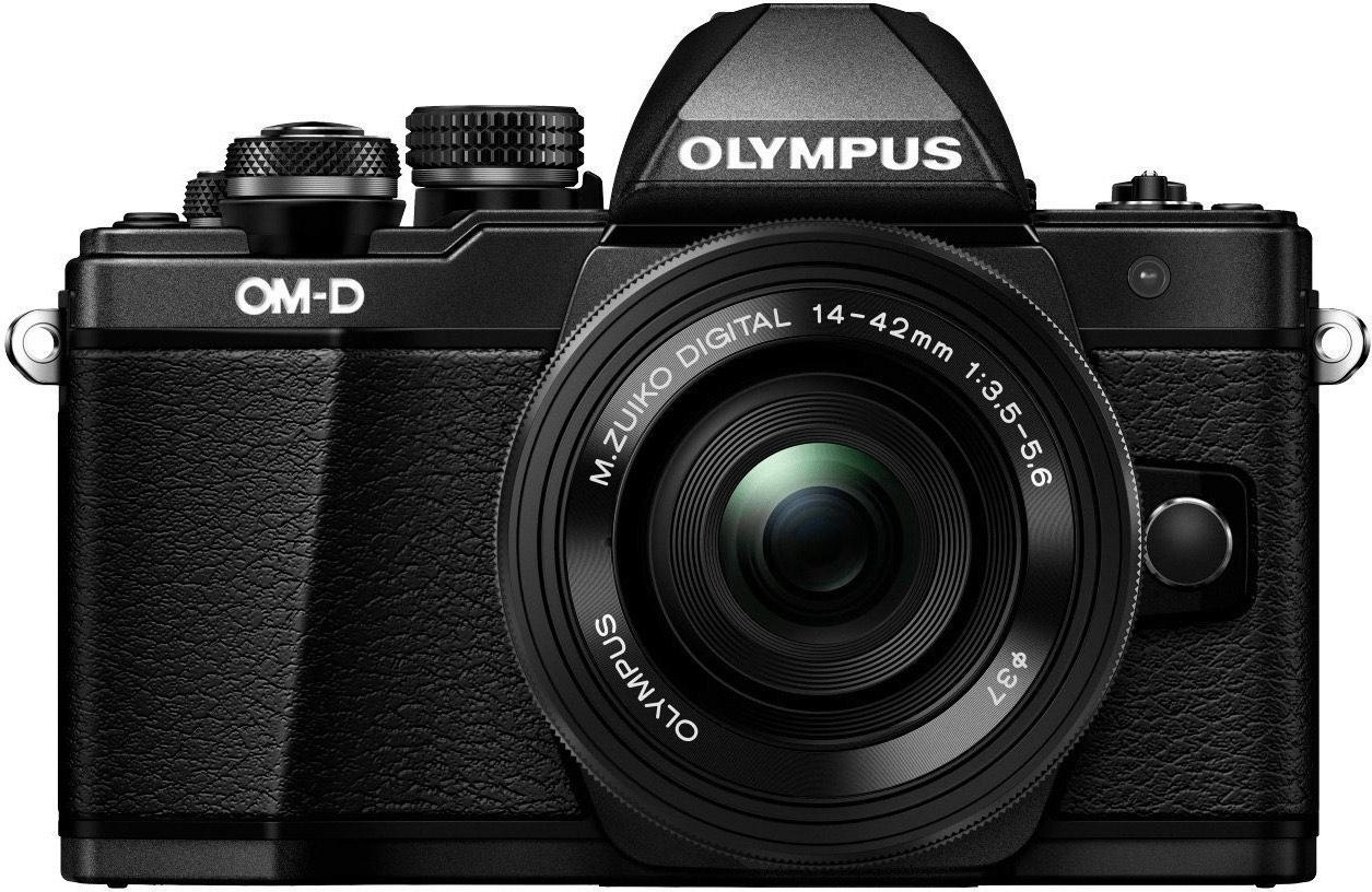Olympus OM-D E-10 Mark II MFT Systemkamera inkl. 14-42F3,5-5,6 II R & 45F1,8 Objektiv