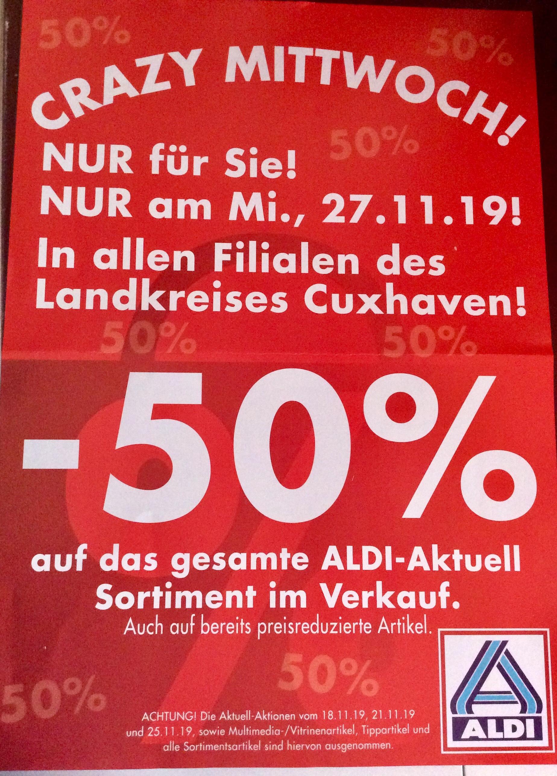 Lokal? LK Cuxhaven 50% Rabatt Aldi am 27.11.2019