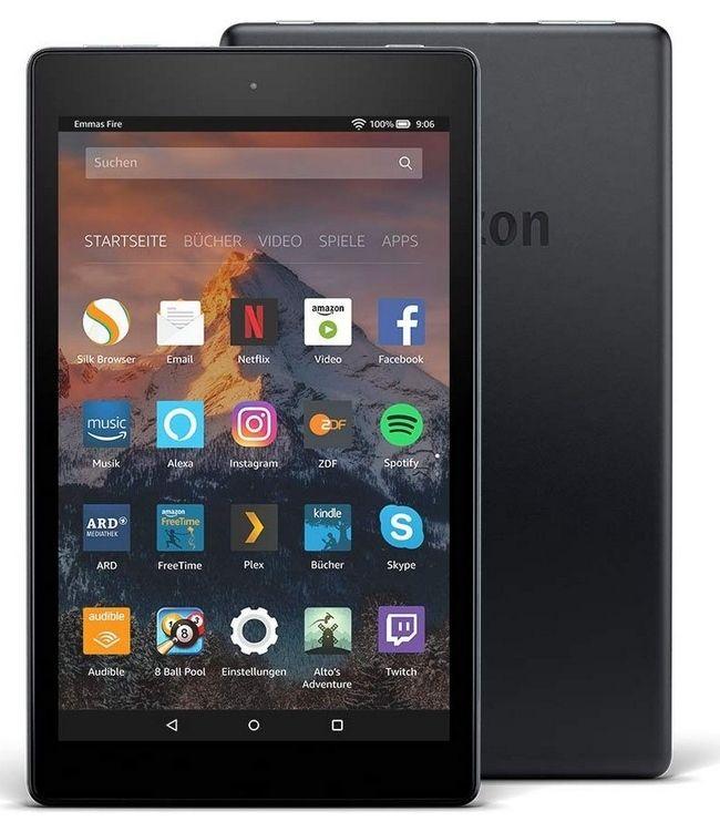 Amazon WHD (gebraucht, gut) - Fire HD 8-Tablet mit Alexa, 20,3 cm (8 Zoll) HD Display, 16 GB Schwarz, (vorherige Generation – 7.)