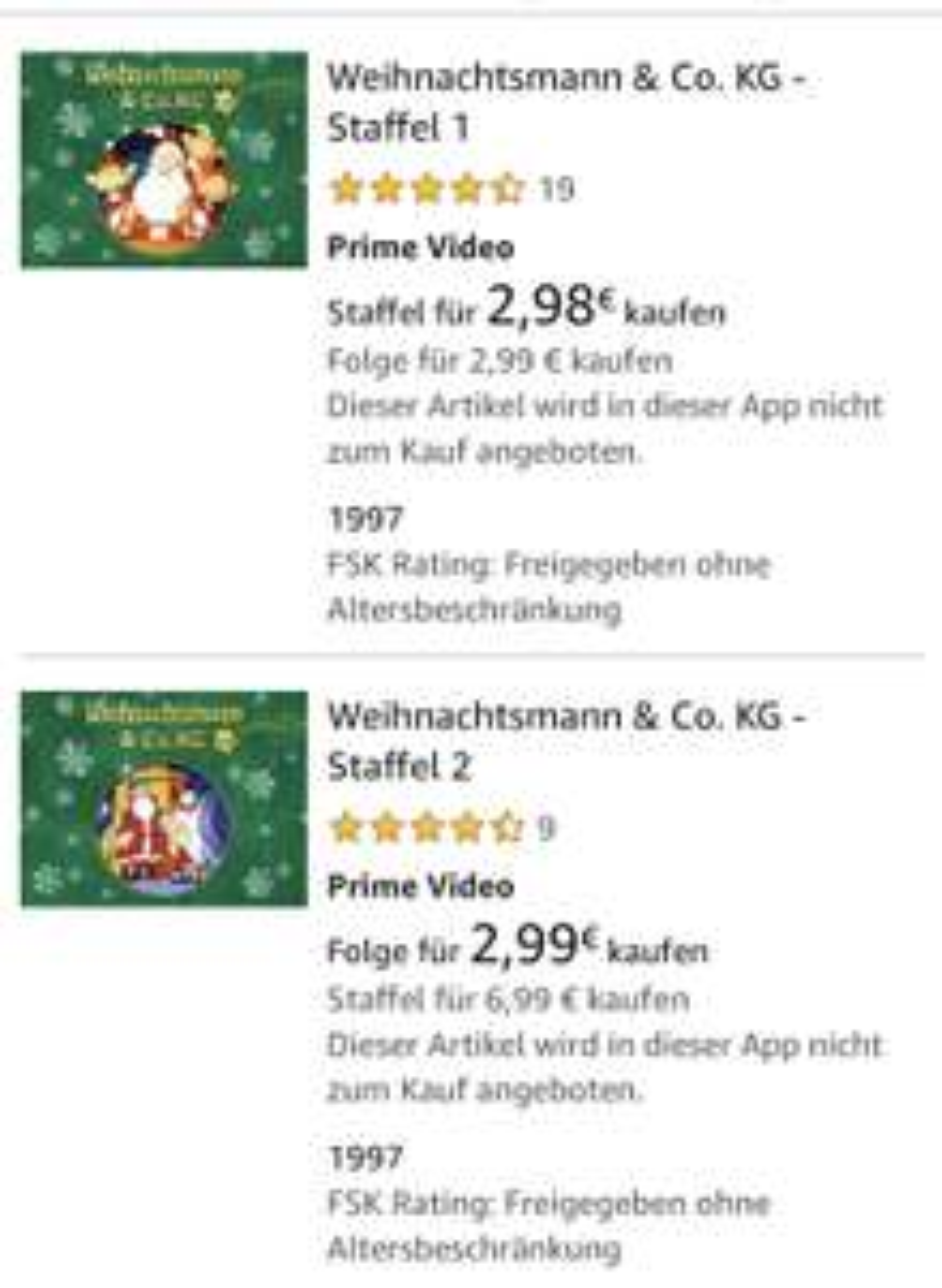 (Amazon Video) Weihnachtsmann & Co KG Staffel 1