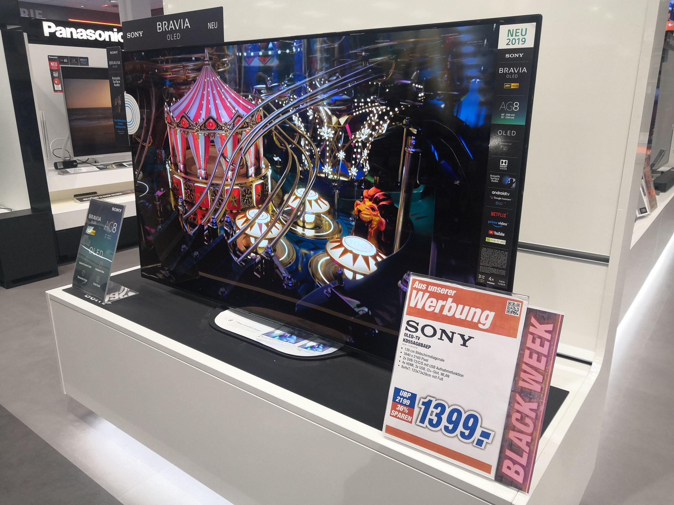 BLACK WEEK SONY KD-55AG8 OLED TV, 55 Zoll/139 cm, OLED 4K, SMART TV, Android TV Langenhagen Hannover und Online