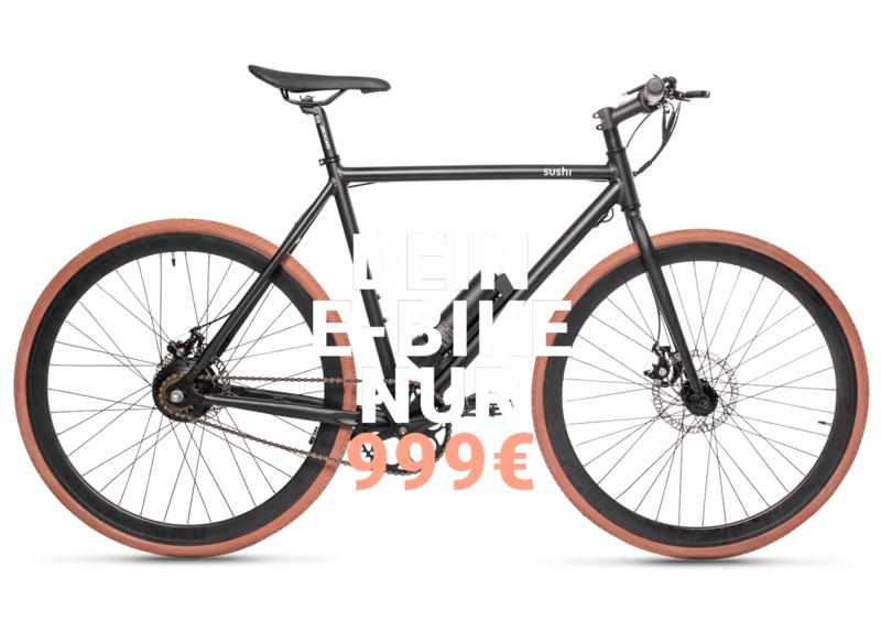 SUSHI e-Bikes - 49 Euro Versandkosten Sparen