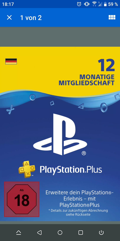 PlaystationPlus 12 Monate 44,99 € + 4,99€ Versand (GameStop,Saturn,PS-Network,Amazon)