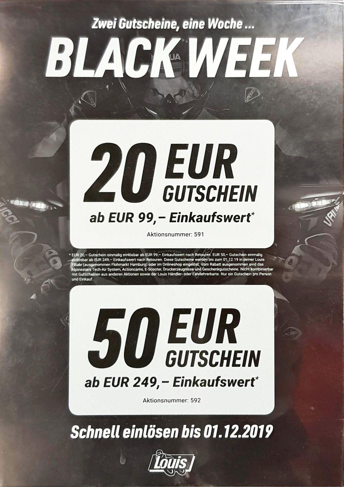 Louis Black Week - 20€ ab 99€ & 50€ ab 249€