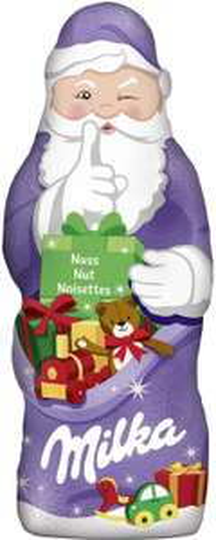 Penny ab Montag, Milka Weihnachtsmann 100g 1,11€, 50g 0,77€