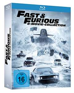 Fast & Furious 8-Movie-Collection Blu-ray [Amazon Prime]