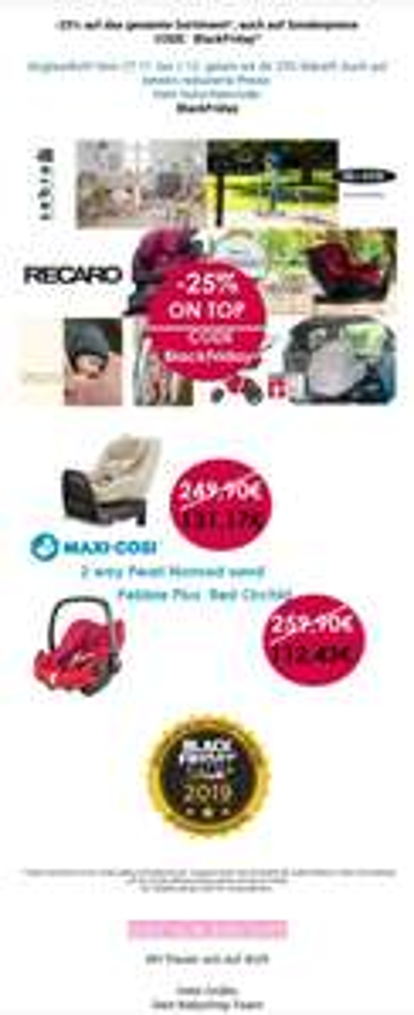 25% bei Babyshop Hunstig z.B. Maxi Cosi 2way Pearl für 131,17 EUR