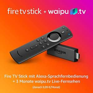 Fire TV Stick + 3 Monate waipu.tv (Neukunden)