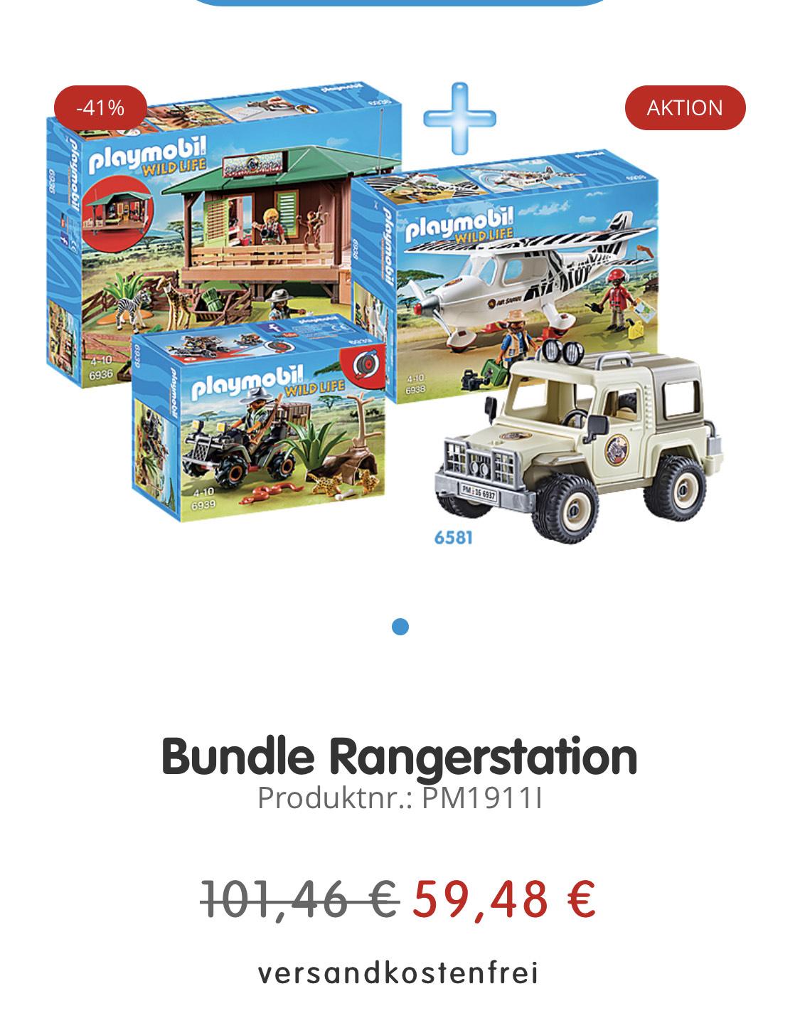 Playmobil Ranger Bundle 4er Set Flugzeug