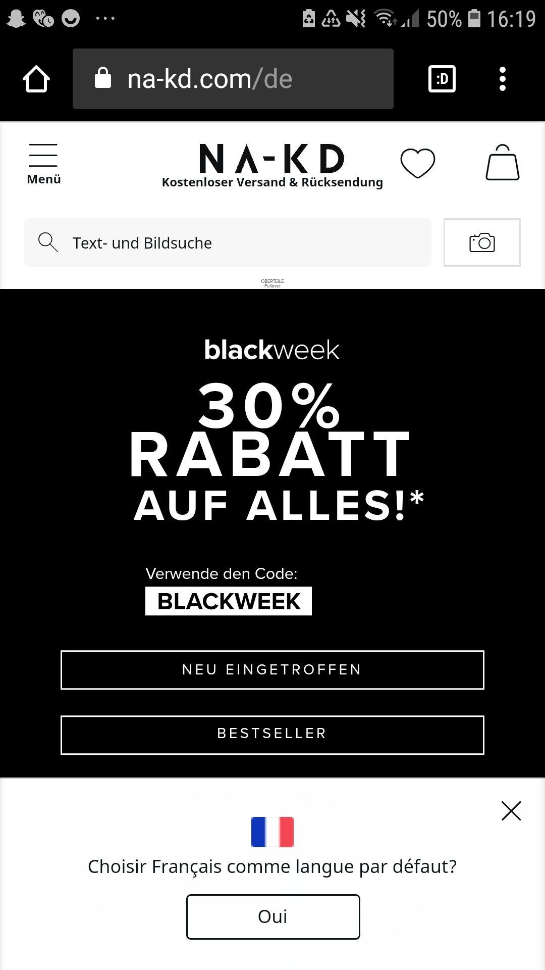 30% Black Friday Rabatt bei NA-KD Damenmode