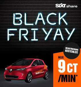 Sixt Share - Black Friday Deal - alle Autos 9cent/Minute (München/Hamburg/Berlin)