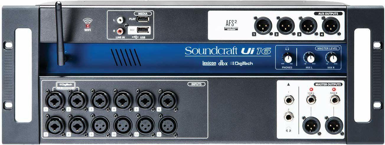 Soundcraft Ui16: Digital-Mischpult (16-Kanal, integrierte Stagebox und DSP, 120-Band Analyzer)