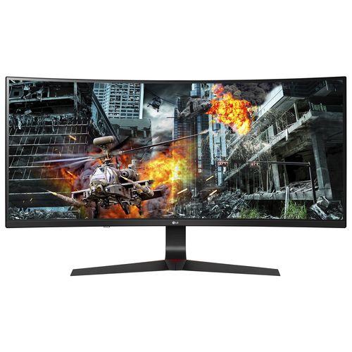 LG 34GL750-B Curved UltraGear 34 Zoll UFHD Gaming Monitor (5 ms Reaktionszeit, FreeSync, 144 Hz)