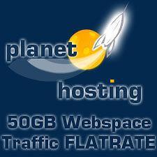 Webhosting 50 GB Webspace inkl. 1x .de Domain 100% Traffic Flatrate