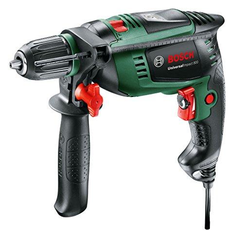 Bosch Schlagbohrmaschine UniversalImpact 800 (800 Watt, Zusatzhandgriff, Tiefenanschlag, Koffer) schwarz/ grün [Amazon]