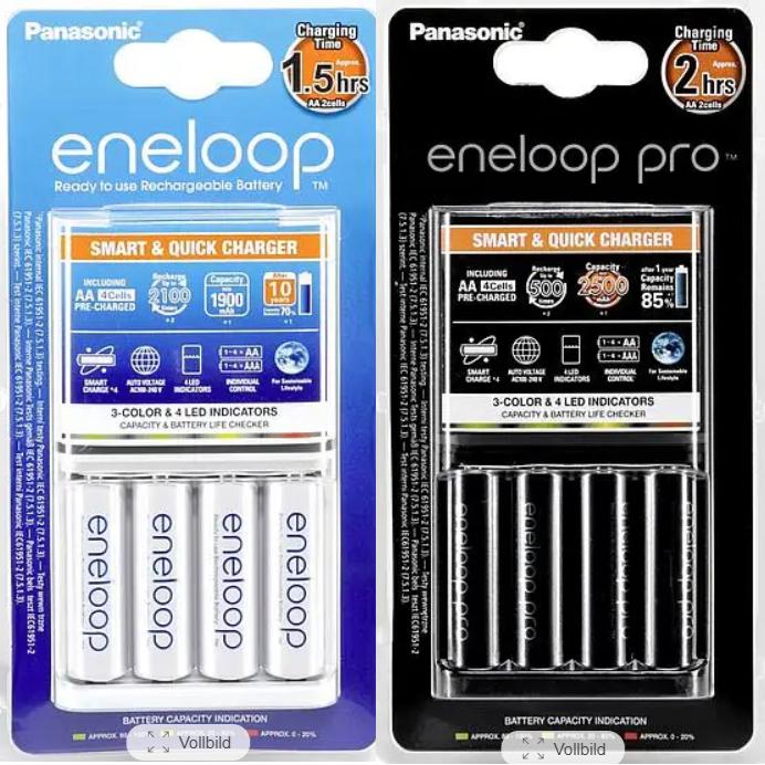 [Baur + paydirekt] Panasonic eneloop Schnellladegerät BQ CC55 + 4x AA Pro Batterien (inaktive Bestandskunden/Neukunden)