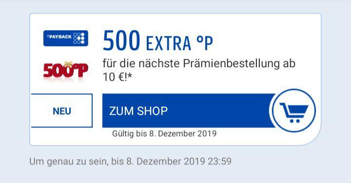 [Payback personalisiert]500 Extrapunkte ab 10€ im Prämienshop. 33% Punkte zurück!