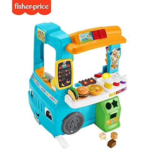 Fisher-Price Lernspaß Food Truck mit Küche und Lernspiele, Spielzeug ab 18 Monaten