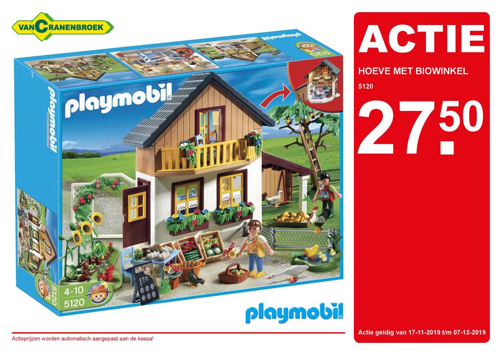 """[vanCranenbroek (NL + B)] Playmobil """"Bauernhaus mit Hofladen"""" und Lego duplo """"Tiere der Welt"""""""