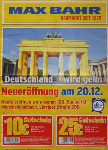 [Lokal] Neueröffnung MAX BAHR in Mönchengladbach am 20.12 mit guten Angeboten
