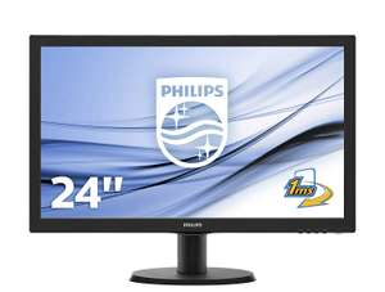 Office Monitor: Philips 243V5LHAB - 60 cm (23.6 Zoll), LED, 1 ms, Lautsprecher, HDMI (Paydirekt)
