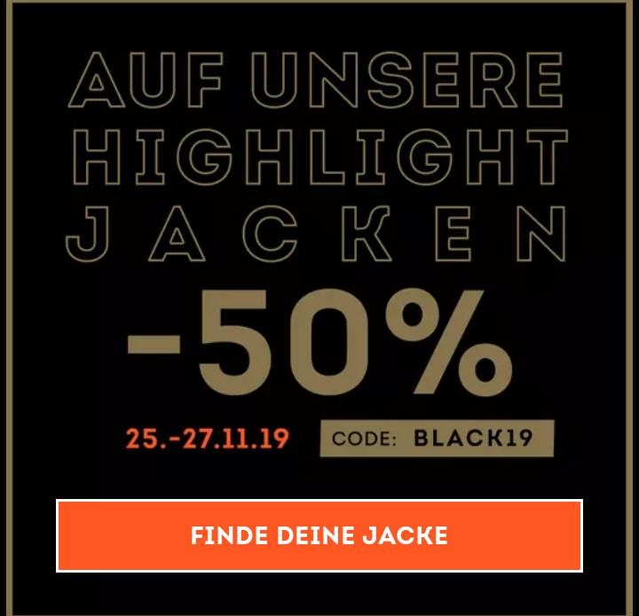 Sportscheck. 50% auf ausgewählte Jacken